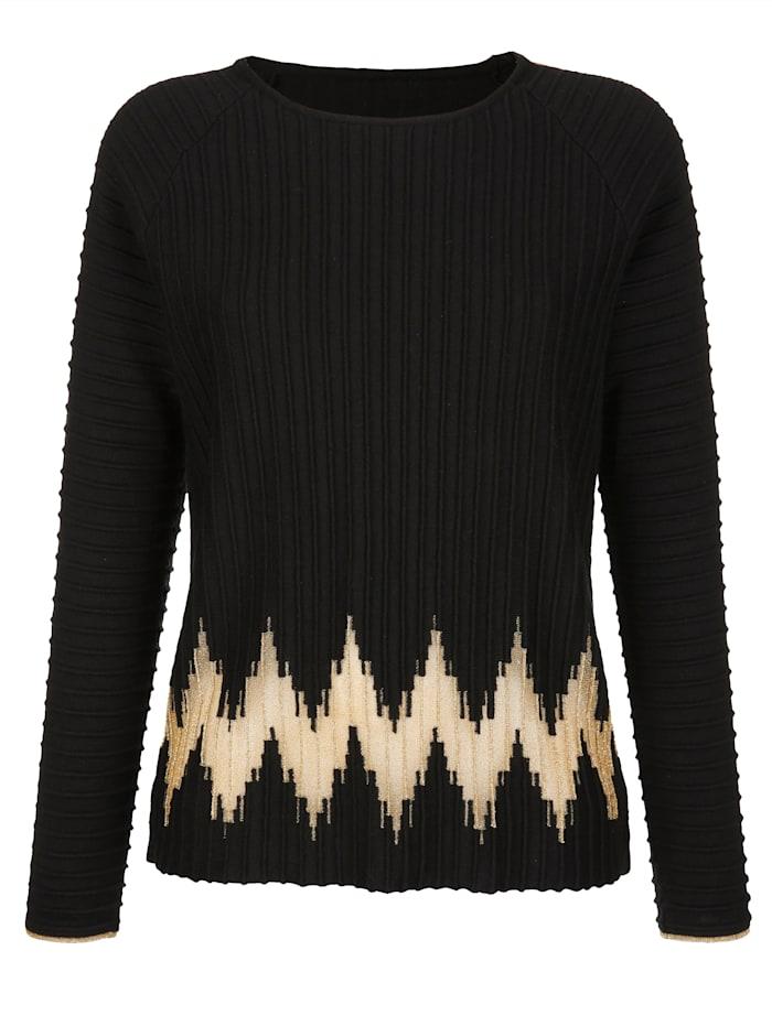 Pullover mit metallischen Garn
