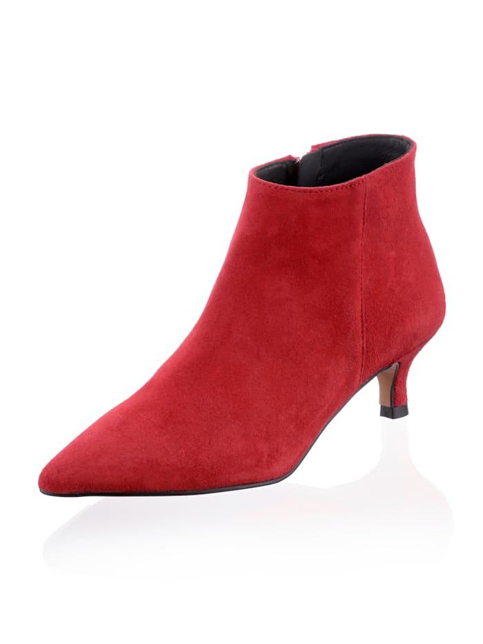 Alba Moda Stiefelette mit Heel in Kitten-Form, Rot