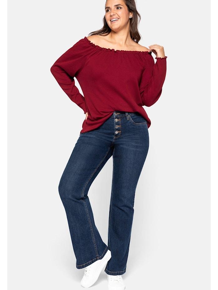 Sheego Jeans mit Knopfverschluss, dark blue Denim