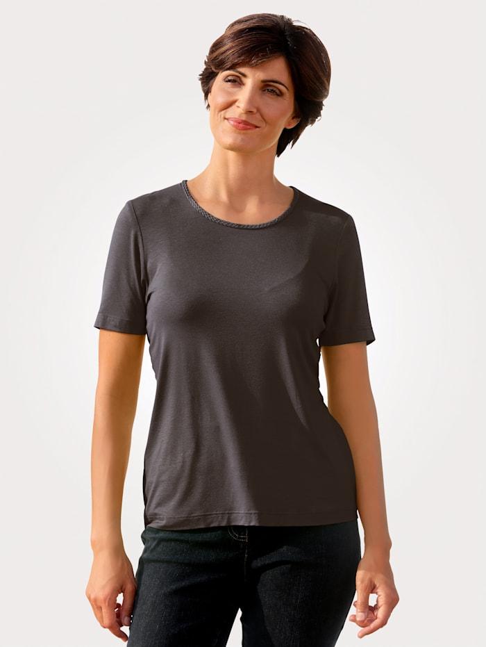 MONA Shirt mit Pima Baumwolle, Braun