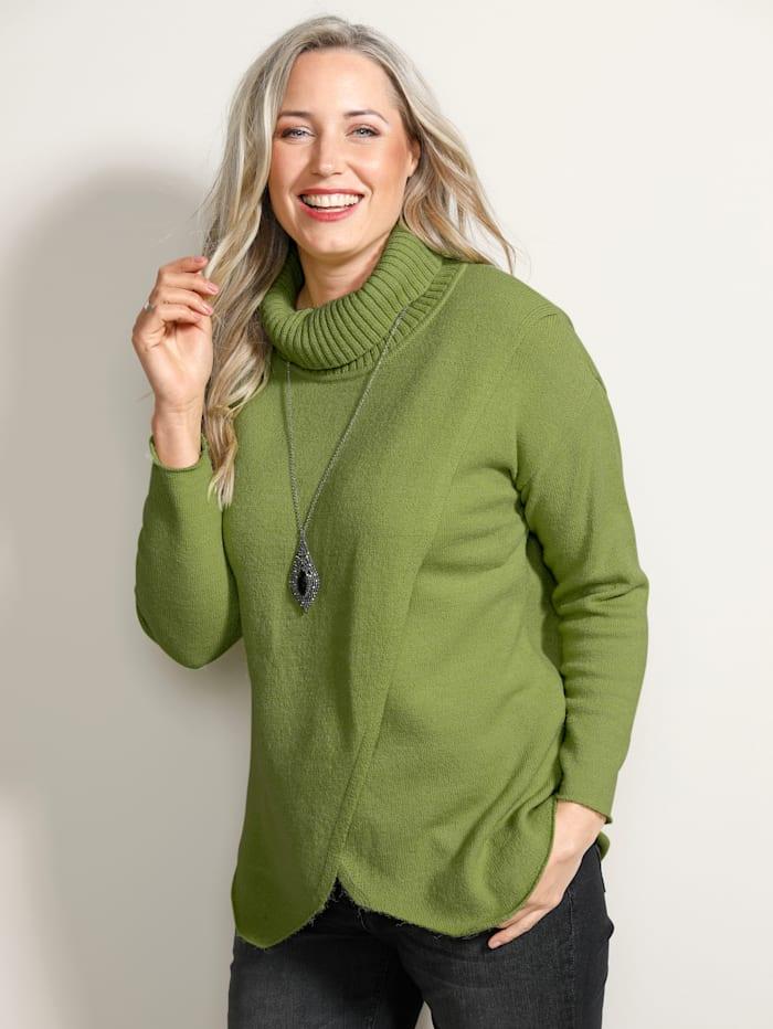 MIAMODA Pullover mit überschnittener Schulter, Grün