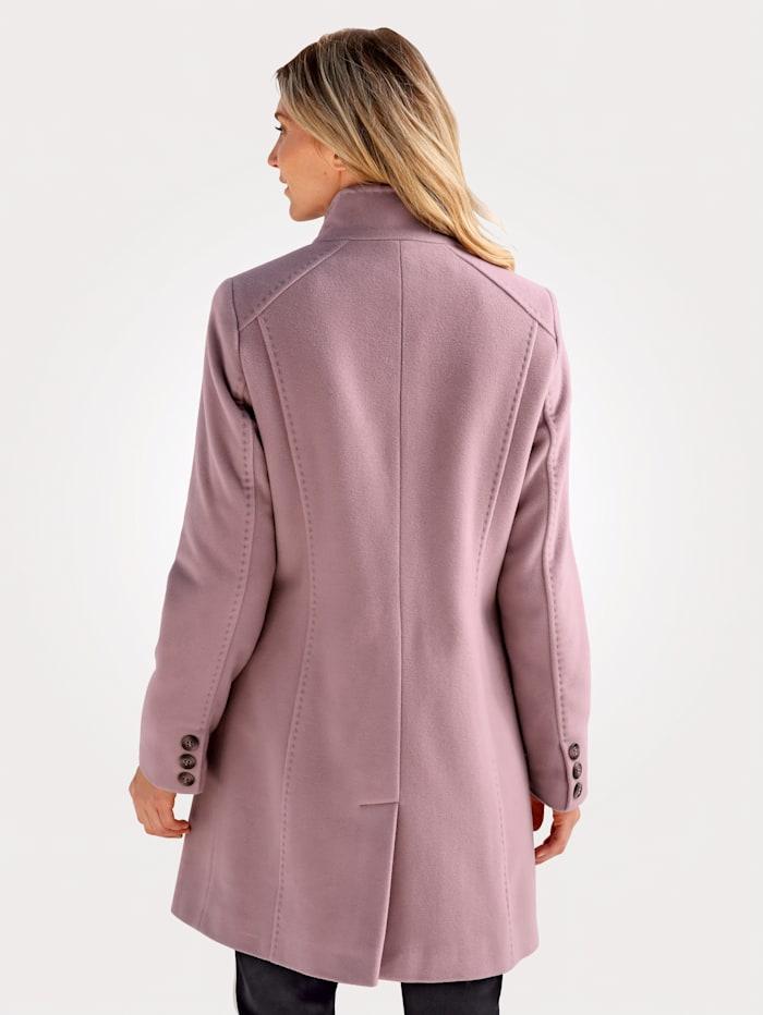 Vlnený krátky kabát s podielom kašmíru