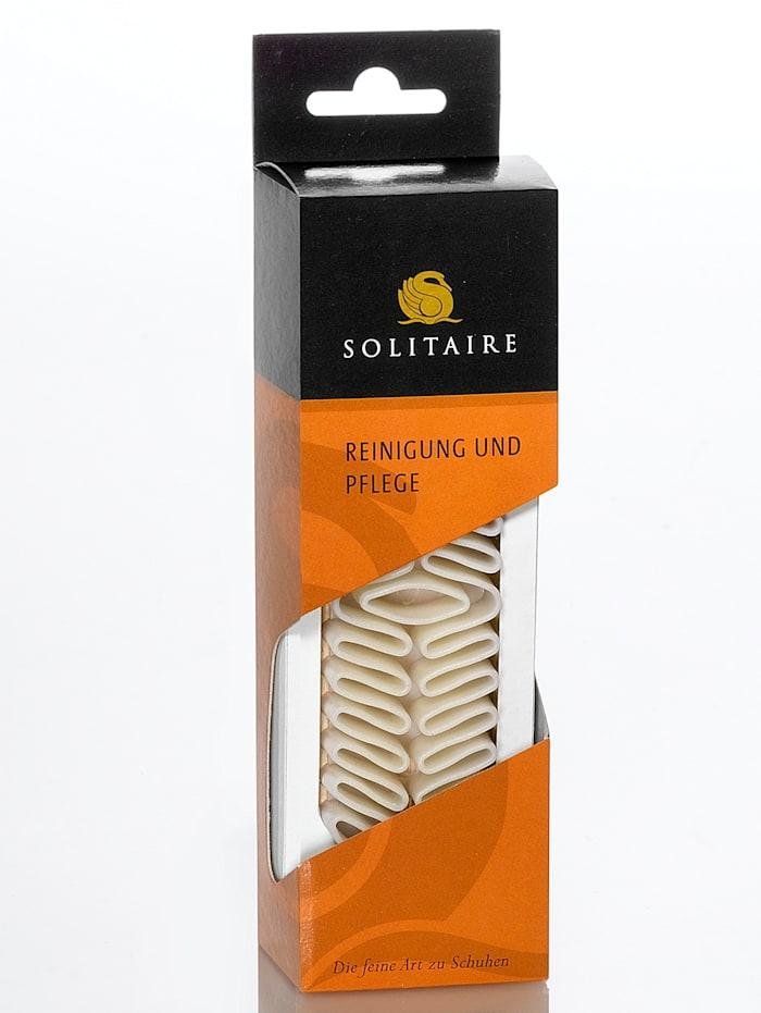 Solitaire Nubukbürste, Creme-Weiß