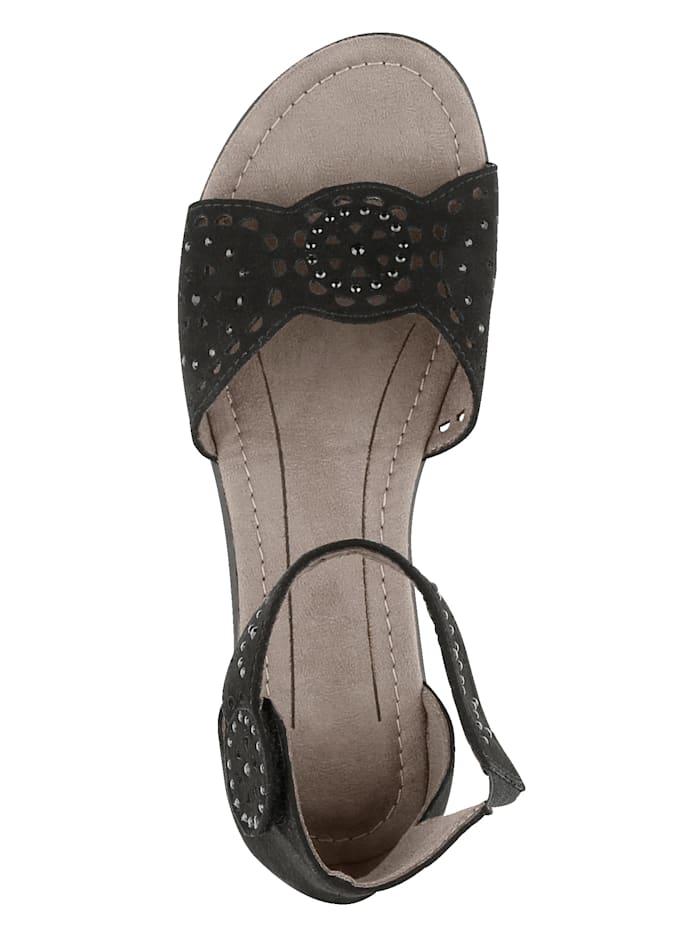 Sandale mit variablem Fesselriemchen aus Klett