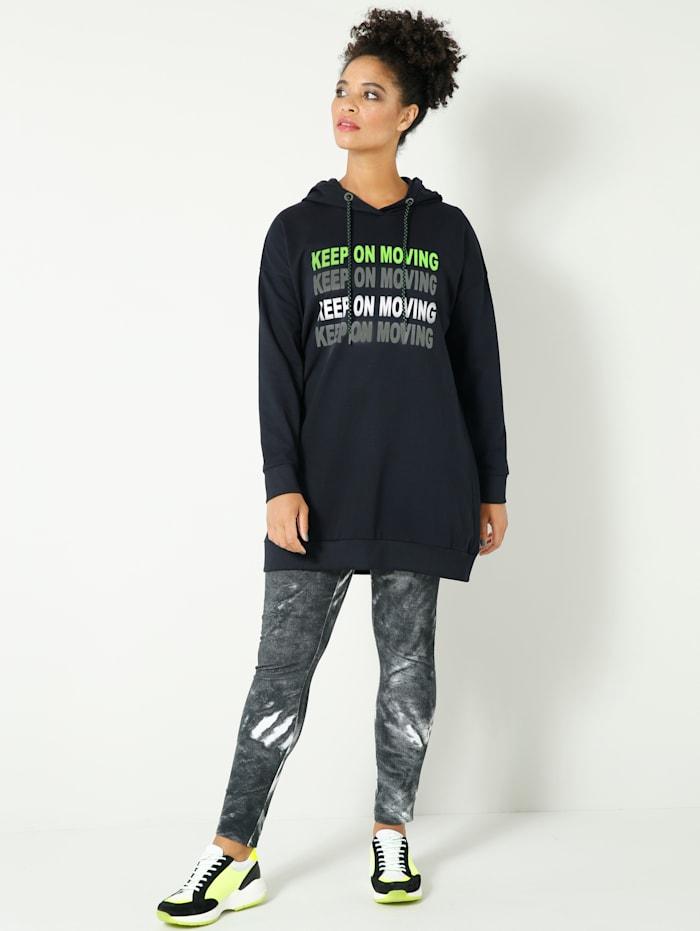 Longsweatshirt oversized geschnitten