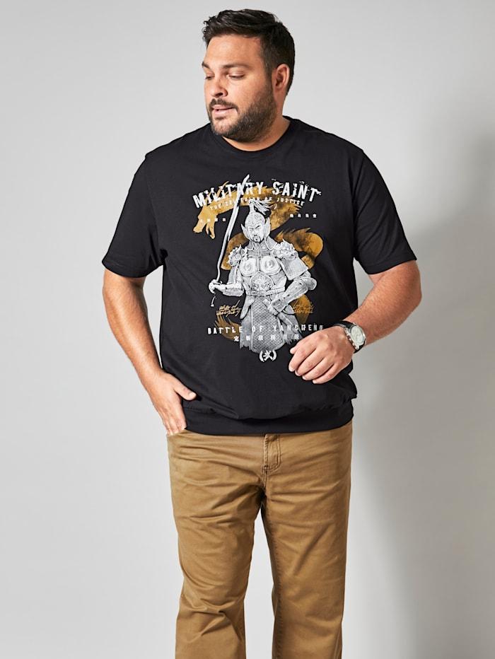 Printti-T-paita – vatsalle tilaa antava leikkaus