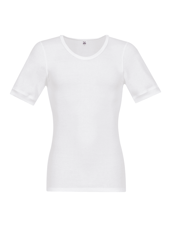 Herren Halbarm-Unterhemd Doppelripp im Doppelpack