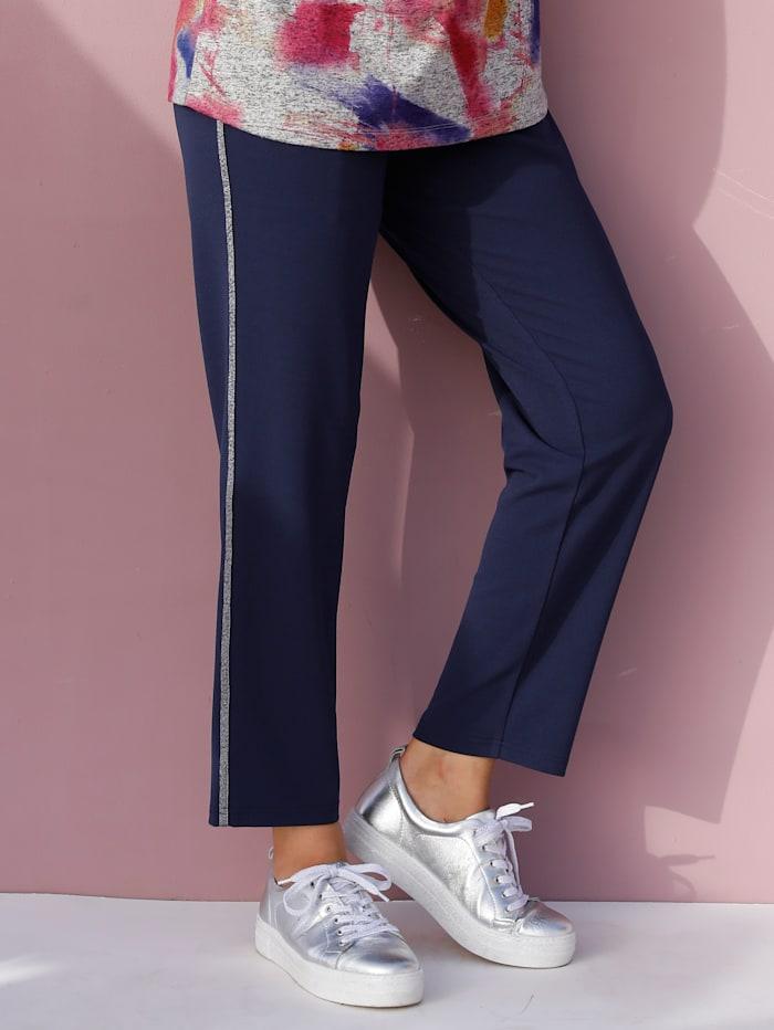 Pantalon avec bande fantaisie pailletée