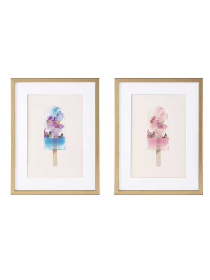 IMPRESSIONEN living Bilder-Set, 2-tlg., Eis, multicolor