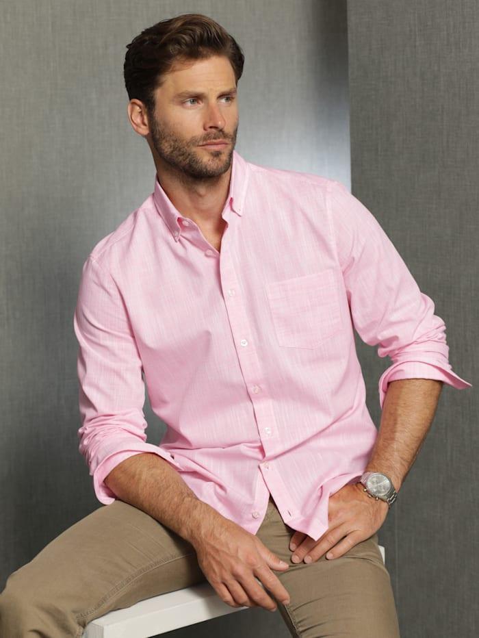 Babista Premium Leinenhemd mit Stretch-Effekt, Rosé