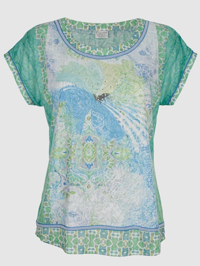 Polttokuvioitu paita