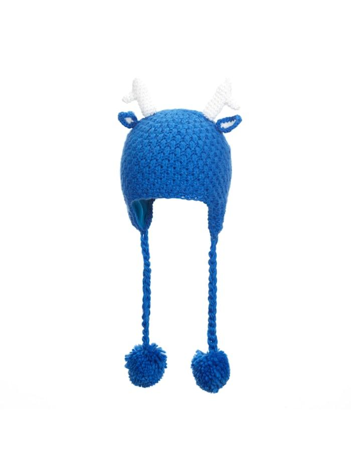 "Eisbär Grobstrick Kindermütze ""Deer"", mittelblau/white"