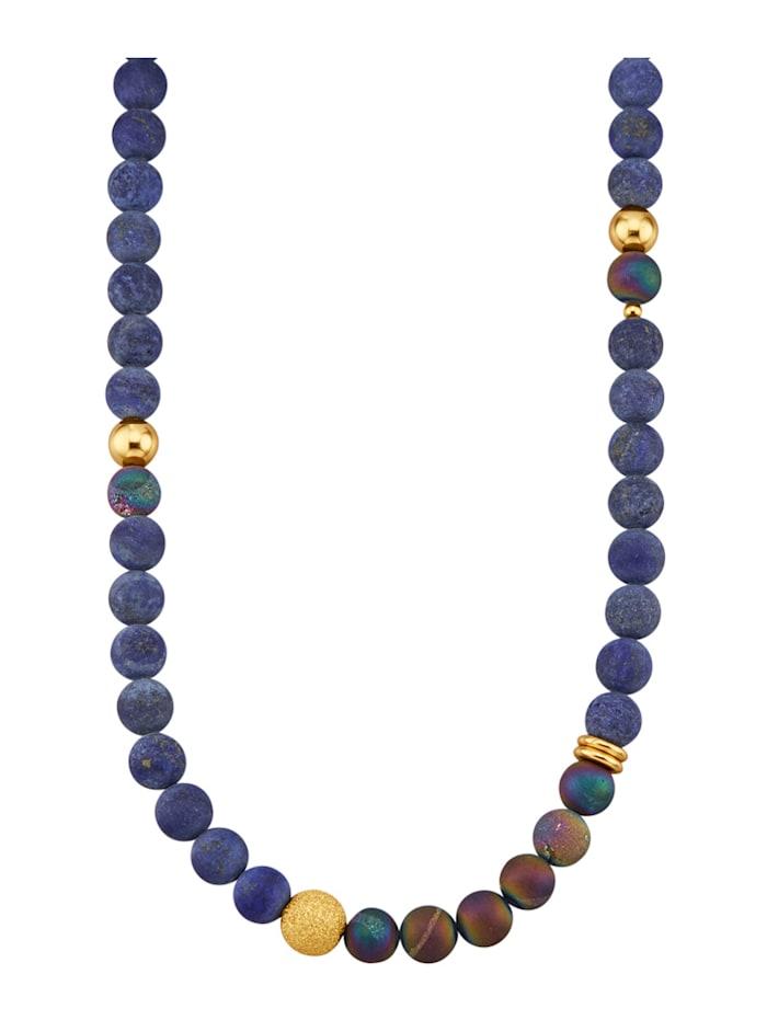 Halskette mit Lapislazuli (beh.), Blau