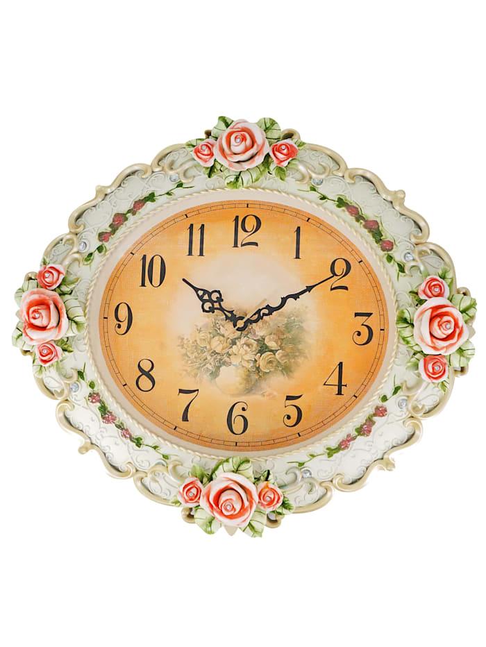 Schwartinsky Horloge murale 'Roses', Multicolore