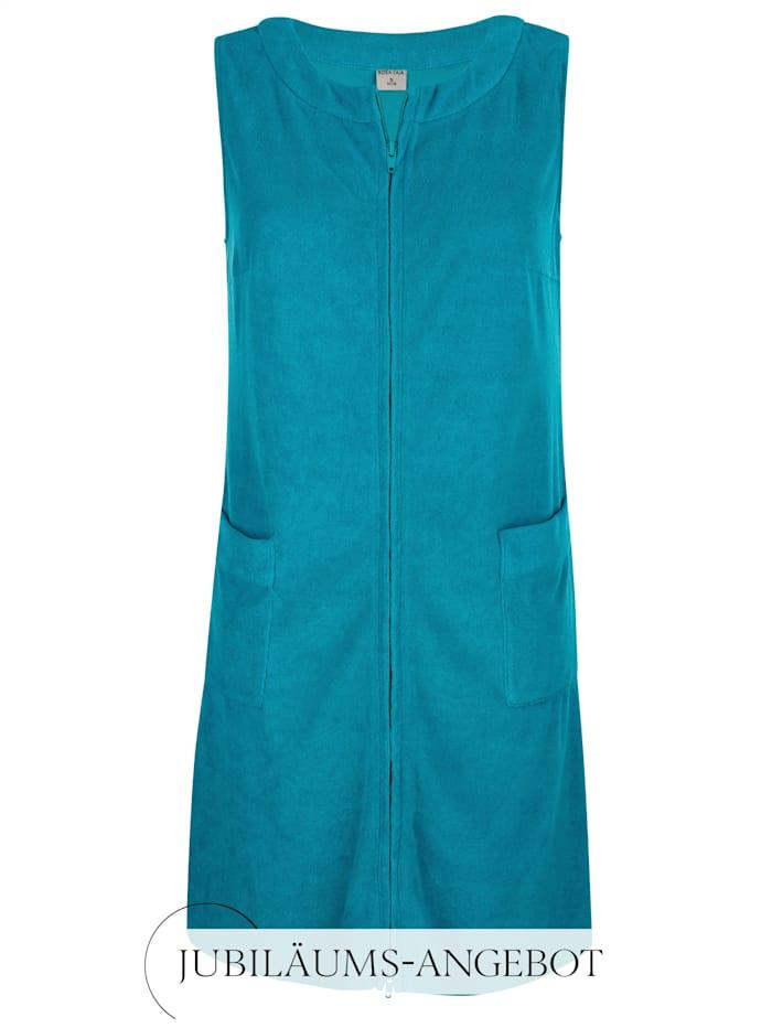 Rosa Faia Strandkleid mit Zipper, Smaragd