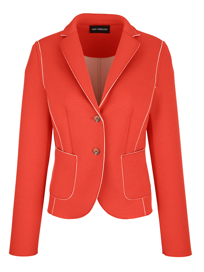 AMY VERMONT Jerseyblazer im sportiven Look, Orange