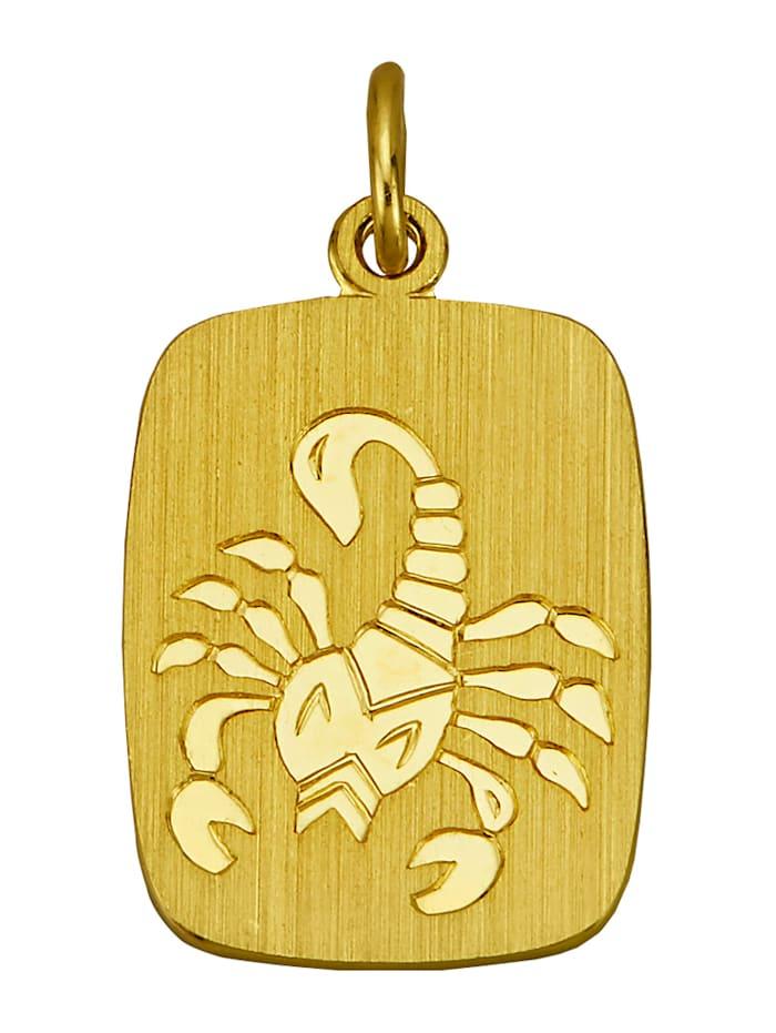 Hänge, stjärntecken skorpionen, Guldfärgad