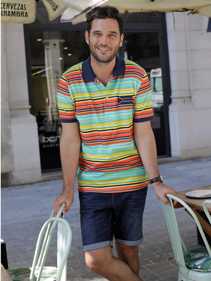 Poloshirt mit bedrucktem Streifendessin