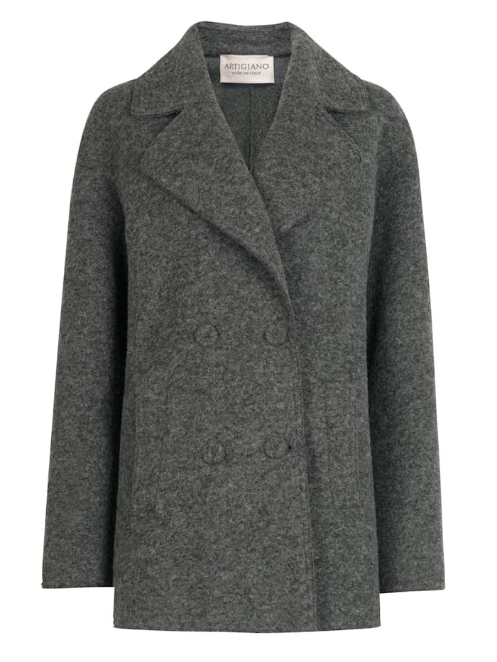 Coat made from boiled wool