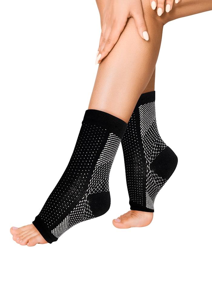 Smarttex Steunsokken voor vermoeide en gestreste voeten, Beige