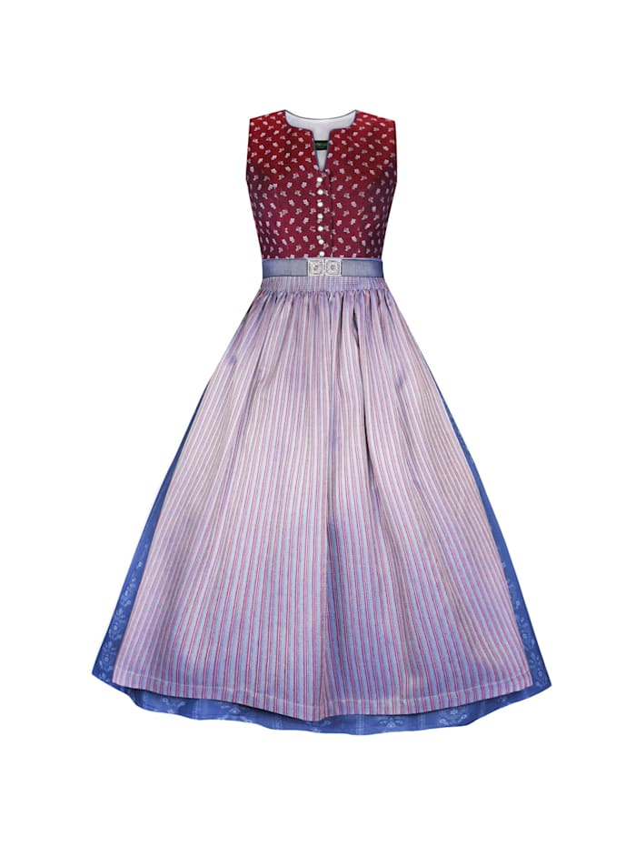 Country Line Langes Dirndl, Weinrot