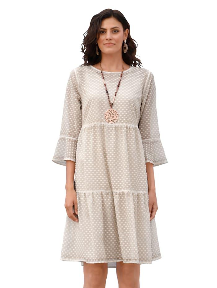 AMY VERMONT Kleid aus strukturierter Ware, Beige