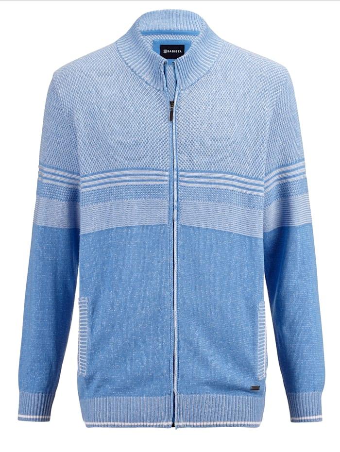 BABISTA Vest met bicolor structuurpatroon, Lichtblauw