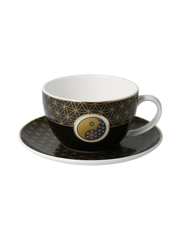 Goebel Goebel Tee-/ Cappuccinotasse Yin Yang Schwarz, Yin Yang