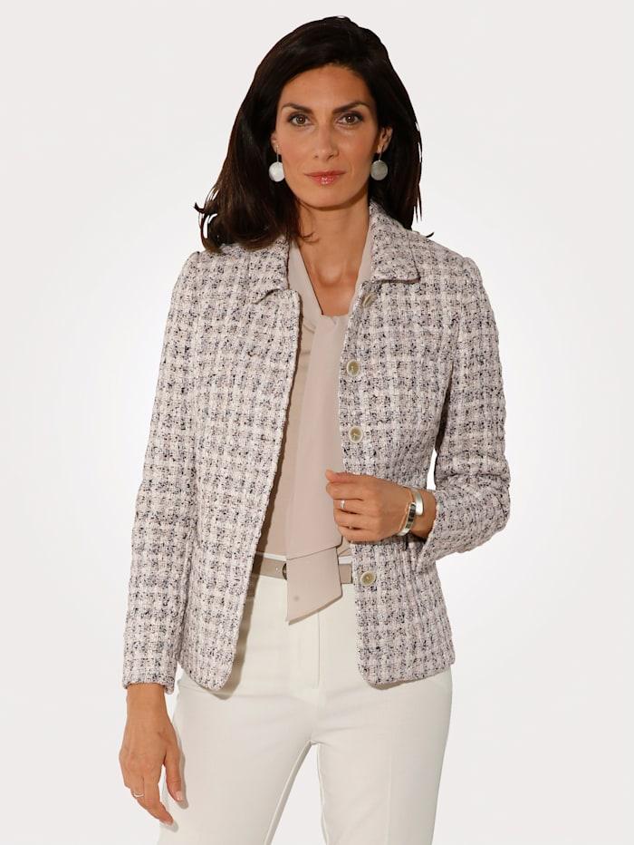 MONA Blazer in a textured fabric, Ecru/Beige