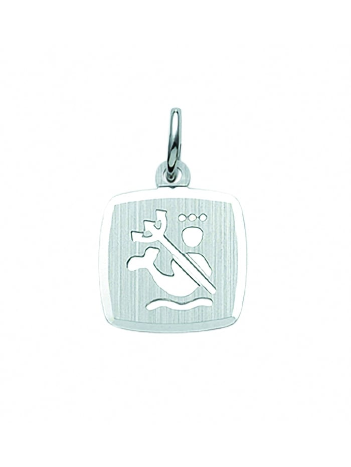 1001 Diamonds Damen & Herren Silberschmuck 925 Silber Sternzeichen Anhänger Wassermann, silber