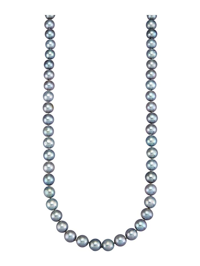 Diemer Perle Süßwasser-Zuchtperlen-Kette, Grau