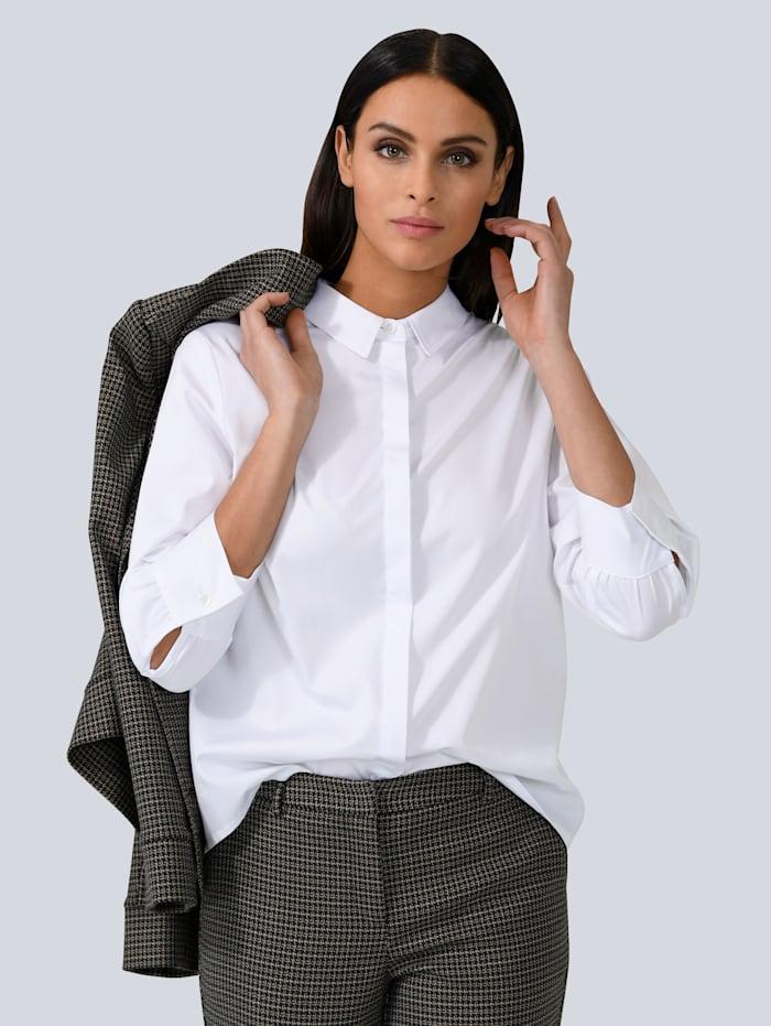 Alba Moda Bluse in kastiger Form, Weiß