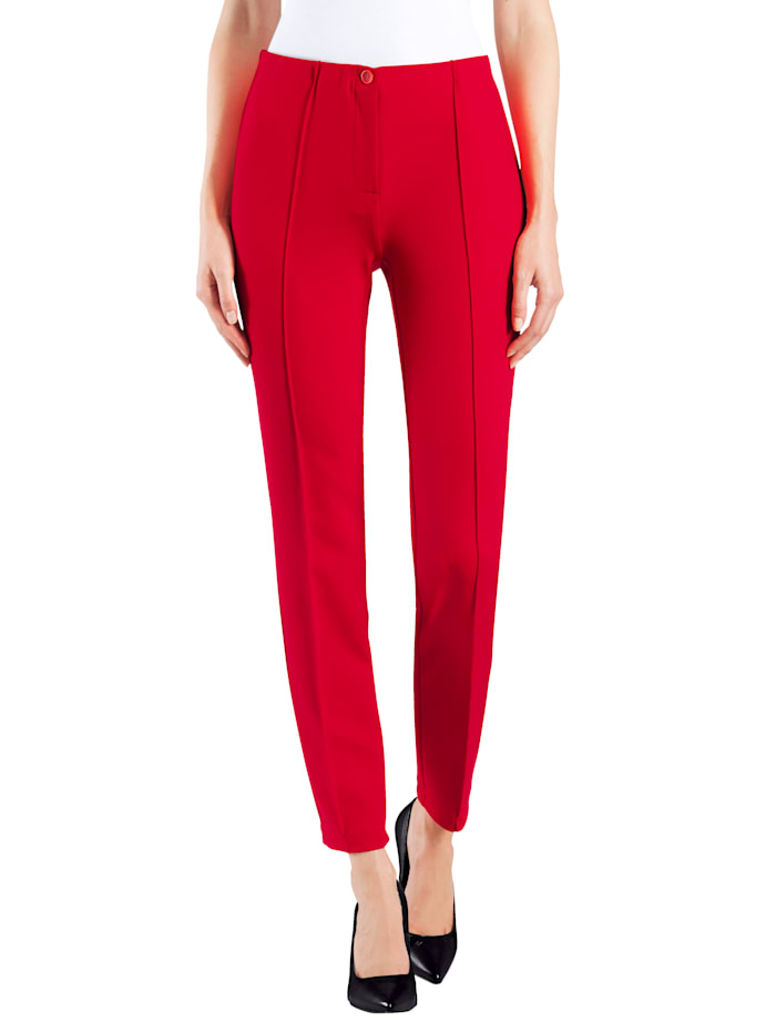 "Alba Moda Pantalon en matière ""power stretch"", Rouge"