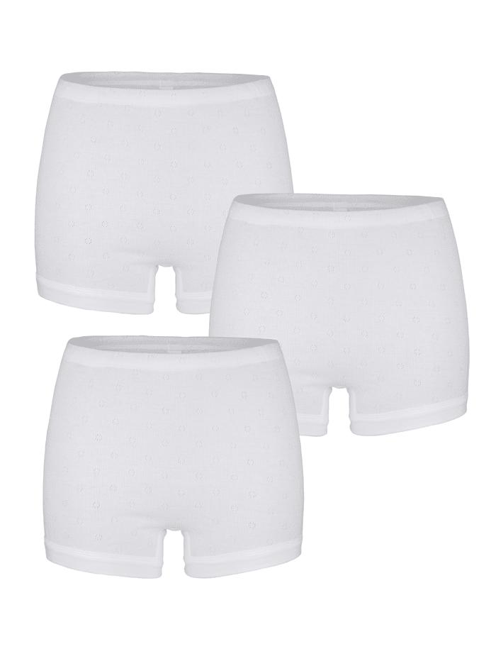 Speidel Pagenschlüpfer mit Ajour-Muster 3er Pack, 3x weiß