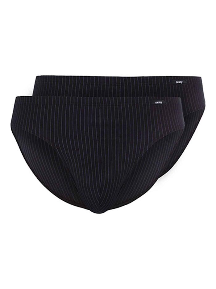 Skiny Slip, 2er-Pack Ökotex zertifiziert, shadow stripe