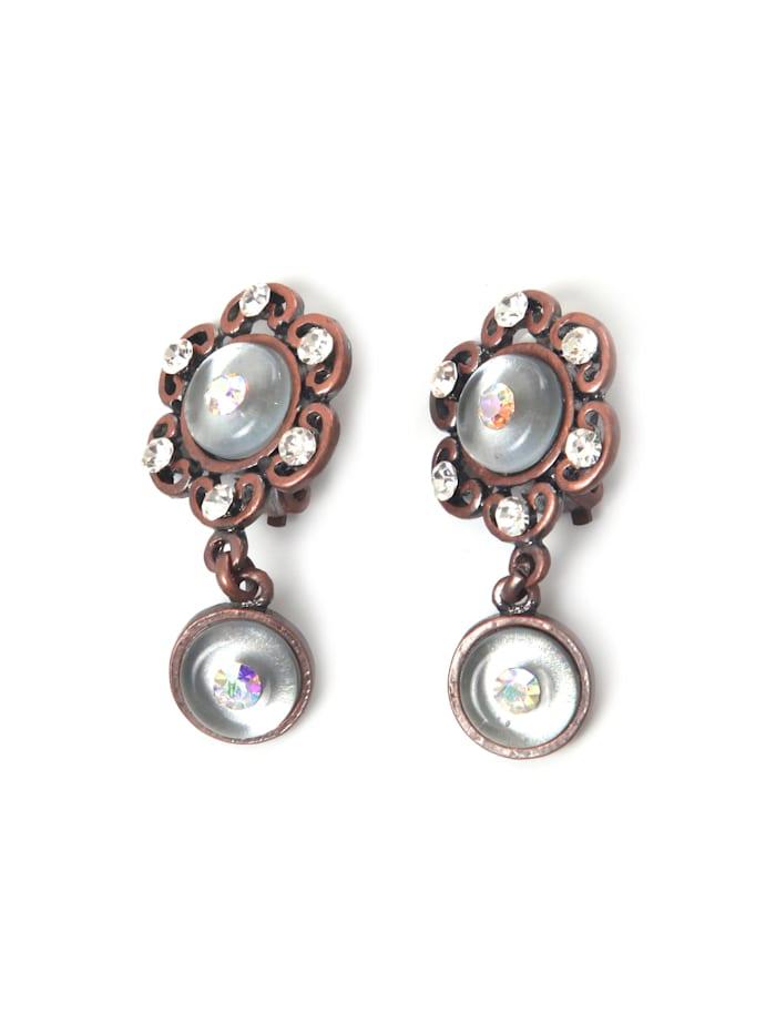 Collezione Alessandro Ohrclips Sari, kristall