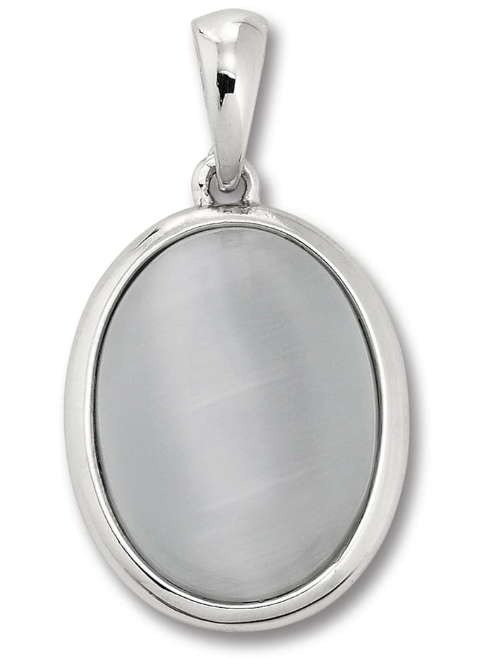 One Element Damen Schmuck Ohrringe / Ohrstecker aus 925 Silber imit. Mondstein, silber
