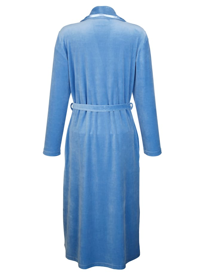 Dressing gown made from soft cotton blend