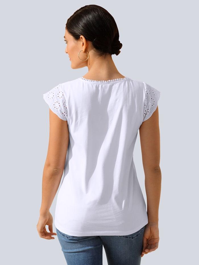 Shirt mit Lochstickerei am Arm