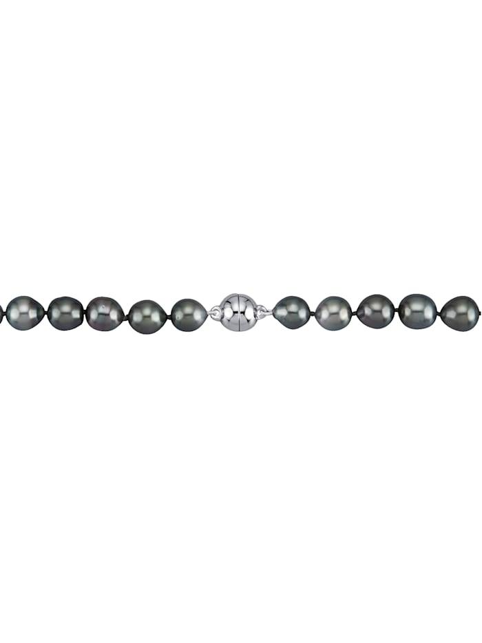 Diemer Perle Tahiti-Zuchtperlen-Kette, Schwarz