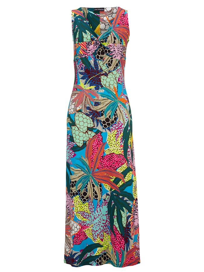 Jerseykleid mit grafisch-floralem Druck