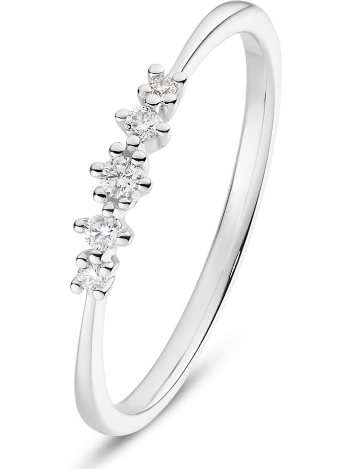 CHRIST C-Collection CHRIST Damen-Damenring 585er Weißgold 5 Diamant, weißgold