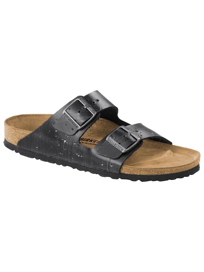 Birkenstock Sandale Arizona Leder schmal, grau