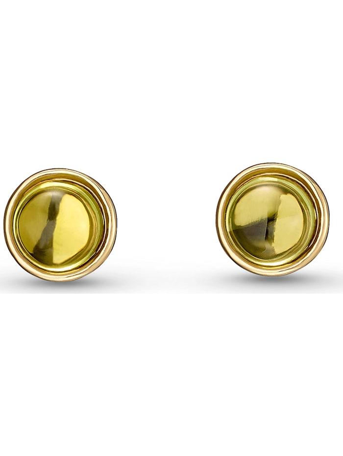 CHRIST C-Collection CHRIST Damen-Ohrstecker 375er Gelbgold Peridot, grün