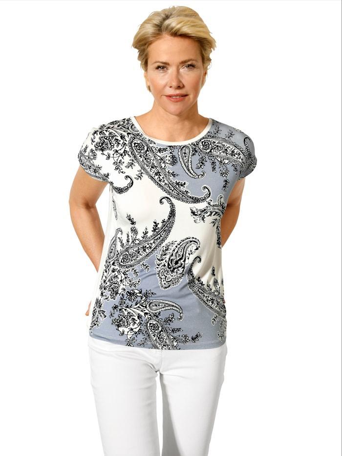 Shirt mit platziertem Paisleydruck