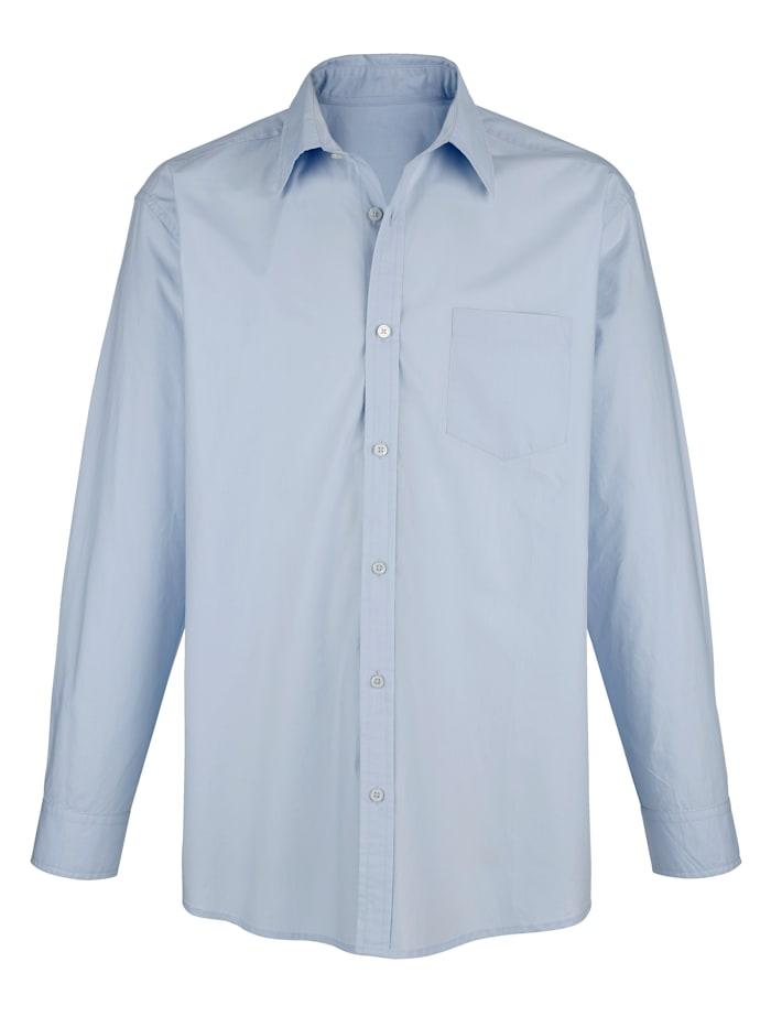Roger Kent Skjorta i strykfritt material, Ljusblå