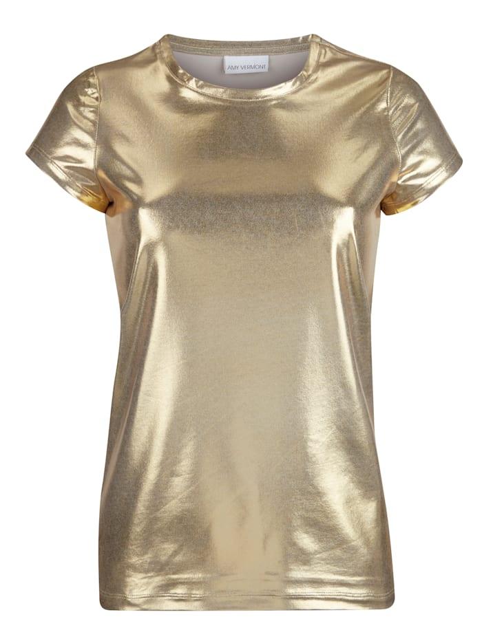 Shirt in Glanz-Optik