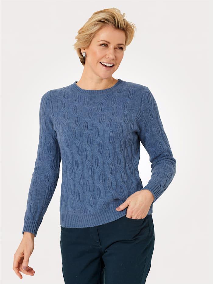 MONA Pullover aus reinem Kaschmir, Hellblau