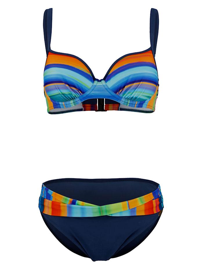 Sunflair Trägerbikini in bunten Sommerfarben, Blau