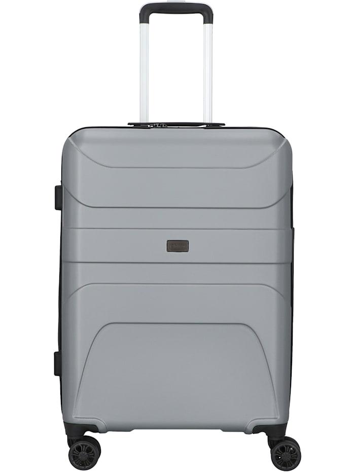 D&N Travel Line 2100 4-Rollen Trolley 68 cm, silber